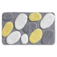 iDesign® 34-Inch x 21-Inch Microfiber Pebblz Bath Rug in Yellow