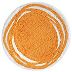 InterDesign® 24-Inch Round Microfiber Doodle Bath Rug in Orange