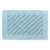 "Castle Hill London Shooting Star 24"" x 40"" Bath Mat in Light Blue"