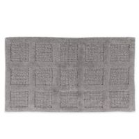 "Square Honeycomb 21"" x 34"" Bath Mat in Silver"