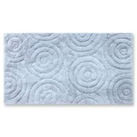 "Perthshire 17"" x 24"" Circles Bath Rug in Light Blue"