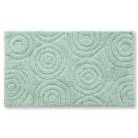 "Perthshire 24"" x 40"" Circles Bath Rug in Light Sage"