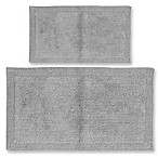 Castle Hill London Bella Napoli 2-Piece 17  x 24  and 21  x 34  Bath Mat Set in Silver