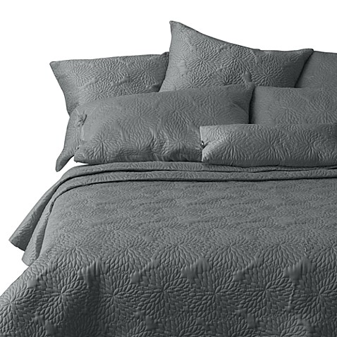 Dkny Chrysanthemum Charcoal Quilt Bed Bath Beyond
