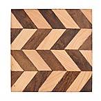 Thirstystone® Chevron Two-Tone Wood Square Single Coaster