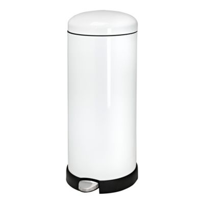 white trash can. Honey-Can-Do® Retro Kitchen 30-liter Trash Can In White