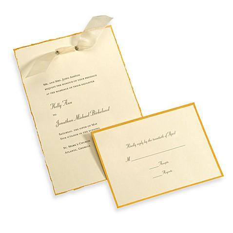 Gartner studios 50 count ivory gold deckled edge for Wedding invitation kits 50 count