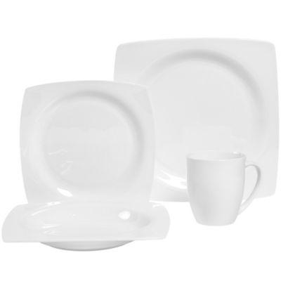 Christine 16-Piece Dinnerware Set in White  sc 1 st  Bed Bath u0026 Beyond & Buy Bone China Dinnerware from Bed Bath u0026 Beyond