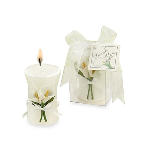Kate Aspen Calla Lily Elegance Vase Candle Wedding Favor Bed Bath