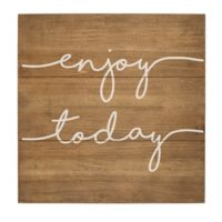 "Cathy's Concepts ""Enjoy Today"" 16-Inch Square Wooden Wall Art"