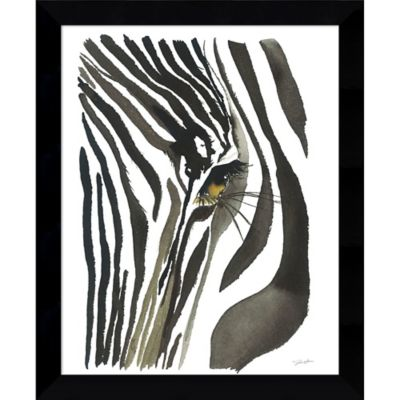 Amanti Art Zebra Eye 9 Inch X 11 Inch Framed Wall Art