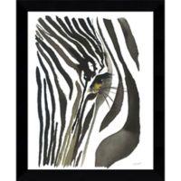 Amanti Art Zebra Eye 9-Inch x 11-Inch Framed Wall Art