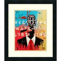 Amanti Art NSA Camera Man 21-Inch x 18-Inch Framed Wall Art