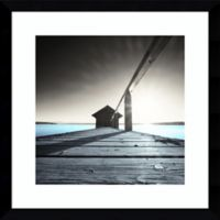 Amanti Old Boathouse 17-Inch Square Framed Wall Art