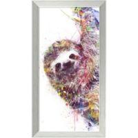 Amanti Art Sloth 14-Inch x 26-Inch Framed Wall Art