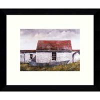 Amanti Art Blue Dory, Monhegan 11-Inch x 9-Inch Framed Art Print