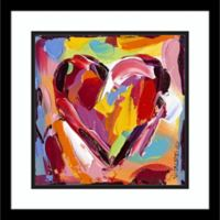 Amanti Colorful Expressions I Heart 17.25-Inch square Framed Wall Art