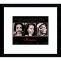 "Amanti Art ""Dreamer: Peace, Power, Respect"" 13-Inch x 15-Inch Framed Wall Art"