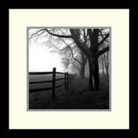 Amanti Art Corner Fence 13-Inch Square Framed Wall Art