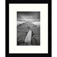 Amanti Art Breakwater Light 9-Inch x 11-Inch Framed Wall Art