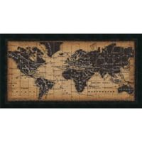 Amanti Old World Map 41.63-Inch x 21.88-Inch Framed Wall Art
