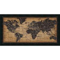 Amanti Old World Map 41.63-Inch x 21.88-Inch Framed Wall Art