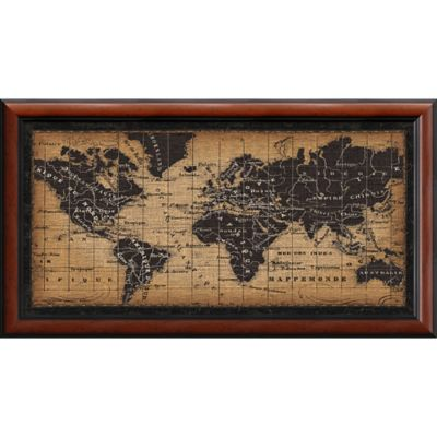 Buy old world map from bed bath beyond amanti old world map 435 inch x 2375 inch framed wall art gumiabroncs Gallery