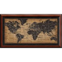 Amanti Old World Map 43.5-Inch x 23.75-Inch Framed Wall Art