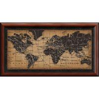 Amanti Old World Map 43.5-Inch x 23.75-Inch Framed Wall Art