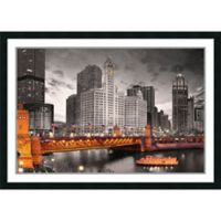 Amanti Art Chicago River 30-Inch x 42-Inch Framed Wall Art