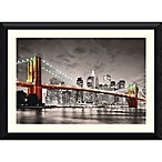 Amanti New York Brooklyn Bridge 44.63-Inch x 32.3-Inch Framed Wall Art