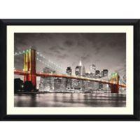 Amanti New York Brooklyn Bridge 44.63-Inch x 32.3-Inch Framed Wall Art