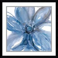 Amanti Art Blue Beauty II Floral 23-Inch Square Framed Art Print