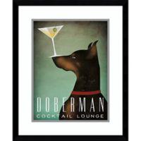 Amanti Art Doberman Martini 22-Inch x 18-Inch Framed Wall Art