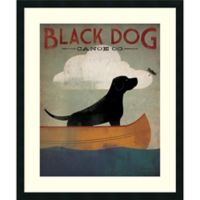Amanti Art Black Dog Canoe Co 30-Inch x 36-Inch Framed Art Print