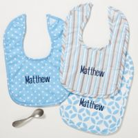 Little Boy Blue Bibs in Blue (Set of 3)