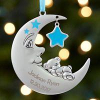 Baby's 1st Christmas Moon Boy Christmas Ornament