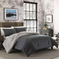 Eddie Bauer® Kingston Reversible Twin Comforter Set in Charcoal