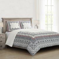 Loressa Full/Queen Comforter Set in Charcoal