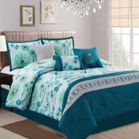 Elight Home Gracelynn 7-Piece King Comforter Set in Green