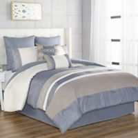 Slater 8-Piece Queen Comforter Set in Blue