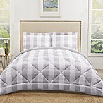 Truly Soft Buffalo Plaid 3-Piece Reversible King Comforter Set in Grey