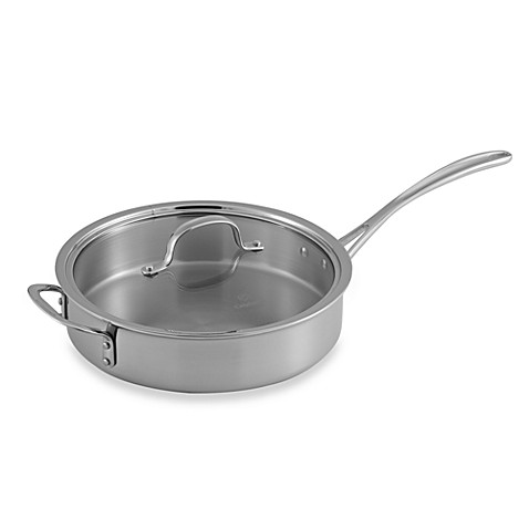 Calphalon® Tri-Ply Stainless Steel 3 qt. Sauté Pan with Lid