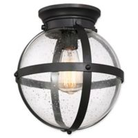 Filament Design 1-Light Flush-Mount Orb Light Fixture in Oil Rubbed Bronze