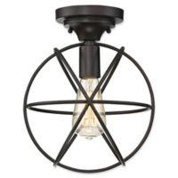 Filament Design 1-Light Flush Mount Light Fixture in Oil Rubbed Bronze