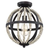 Filament Design 1-Light Orb Flush-Mount Ceiling Fixture in Oil Rubbed Bronze