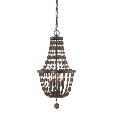 Filament Design 4 Light Pendant Light In Oil Rubbed Bronze