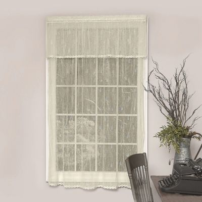 Heritage Lace® Pineapple Trimmed 84 Inch Rod Pocket Window Curtain Panel In  Ecru