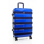 Tommy Hilfiger Rugby Stripe 25-Inch Hardside Spinner Suitcase in Navy