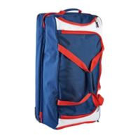 U.S. Polo Assn.® 30-Inch Rolling Duffle Bag in Navy/Red